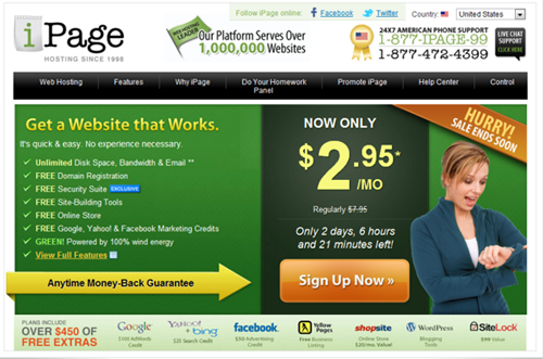 iPage - One of the best choice for all website
