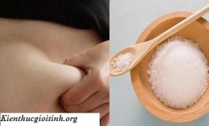 Cách giảm mỡ bụng từ muối, cach giam mo bung tu muoi