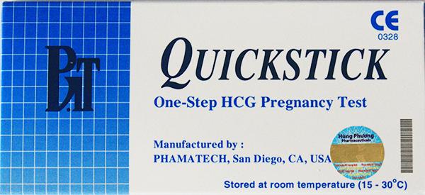 Thông tin và hình ảnh que thử thai quickstick