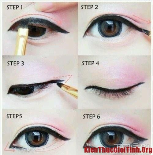 Cách trang điểm cho mắt một mí