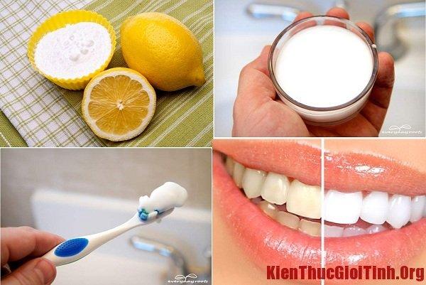 Bí quyết để có hàm răng trắng sáng tại nhà với chanh và baking soda