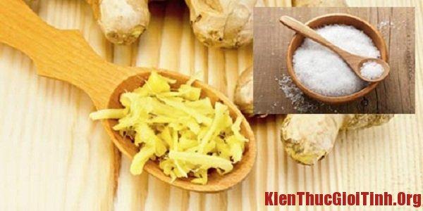 Cách giảm mỡ bụng bằng muối và gừng